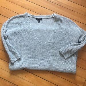 Light weight express sweater light gray